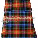 LGBTQ Pride Tartan 8 Yard Scottish Kilt 16 Oz with Detachable Pockets