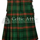 Handmade - Scottish 8 Yard TARTAN KILT - 16 Oz Acrylic Fabric - Ross Hunting 30 waist