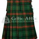 Handmade - Scottish 8 Yard TARTAN KILT - 16 Oz Acrylic Fabric - Ross Hunting 36 waist