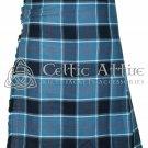 Premium - Scottish 8 Yard TARTAN KILT - 16 Oz Acrylic Fabric - US Navy Tartan 34 waist