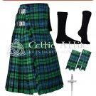 50 Campbell Ancient Tartan Scottish 8 Yard TARTAN KILT Package
