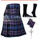 50 Pride of Scotland Tartan Scottish 8 Yard TARTAN KILT Package
