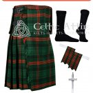 50 Rose Hunting Tartan Scottish 8 Yard TARTAN KILT Package