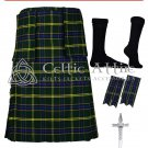 48 US Army Tartan Scottish 8 Yard TARTAN KILT Package
