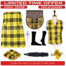 40 Macleod of Lewis  Scottish Traditional Tartan Kilt With Free Shipping and 9 Accessories
