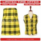 44 Waist Scottish 8 Yard Kit with 3 Detachable Pocket Free Matching Vest - Macleod of Lewis Tartan