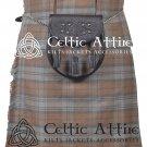 "50"" Waist Black Watch Weathered Tartan Scottish 8 Yard Detachable Pockets Kilt Matching Kilt Sporran"