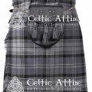 "34"" Hamilton Grey Tartan Scottish 8 Yard Detachable Pockets Kilt With Free Matching Sporran Kilt"