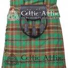 """38"""" Tara Murphy Tartan Kilt Scottish 8 Yard Detachable Pockets Kilt  Matching Sporran kilt"""