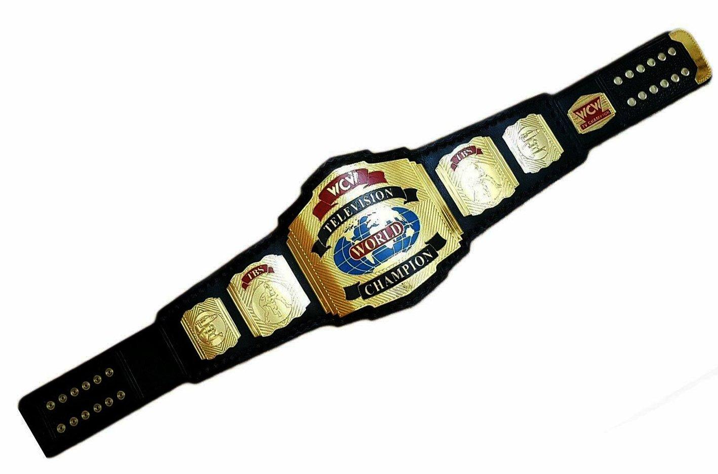WCW Television World Champion Belt WWE WWF Heavyweight Wrestling  Replica Belt