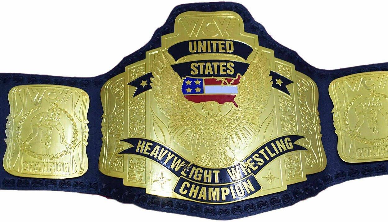 WCW UNITED STATES HEAVYWEIGHT CHAMPIONSHIP BELT 2MM BRASS ADULT SIZE REPLICA