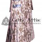 8 Yard Cotton Utility Kilt For Men Custom Made Desert Camo Kilt