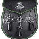 Irish KILT SPORRAN St. Patrick Day Sporran & Free Chain Belt Premium Handmade