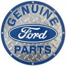 """Genuine Ford Parts 12"""" Round Embossed Metal Sign"""
