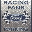 Ford Racing Embossed Metal Sign 12x18