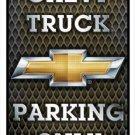 Chevrolet Truck Parking Embossed Metal Sign 12x18