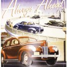 Ford Always Ahead Driving The Future Embossed Metal Sign 12x18