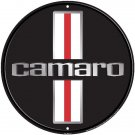 "Chevrolet Camaro Embossed Metal Sign 12"" Round"