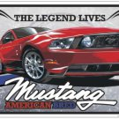 Ford Mustang The Legend Lives Embossed Metal Sign 12x18