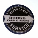 """Dodge Cars And Trucks Metal Sign 12"""" Round"""