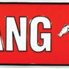 Ford Mustang Avenue Embossed Metal Sign 24x5