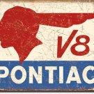 Pontiac Logo Metal Sign 12.5x17