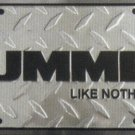 Hummer Diamond Metal License Plate