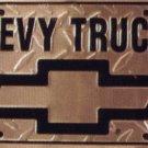 Chevy Trucks Diamond Metal License Plate