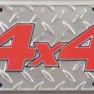 4X4 Metal License Plate
