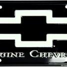Genuine Chevrolet Bow Tie Black Metal License Plate