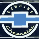 Genuine Chevrolet Bow Tie Black and Blue Metal License Plate