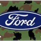 Ford Logo Camoflauge  Metal License Plate