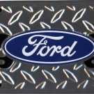 Ford Logo Flames  Metal License Plate