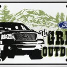 Ford Truck Great Outdoors   Metal License Plate