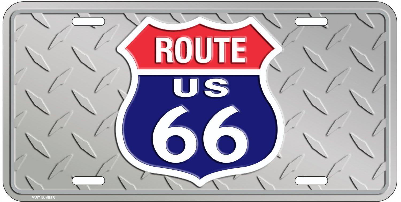 Route 66 Diamond License Plate