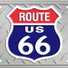 Route 66 Diamond License Plate