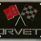 Chevrolet Corvette Racing Flags License Plate