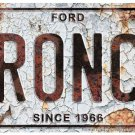 Ford Bronco Embossed License Plate