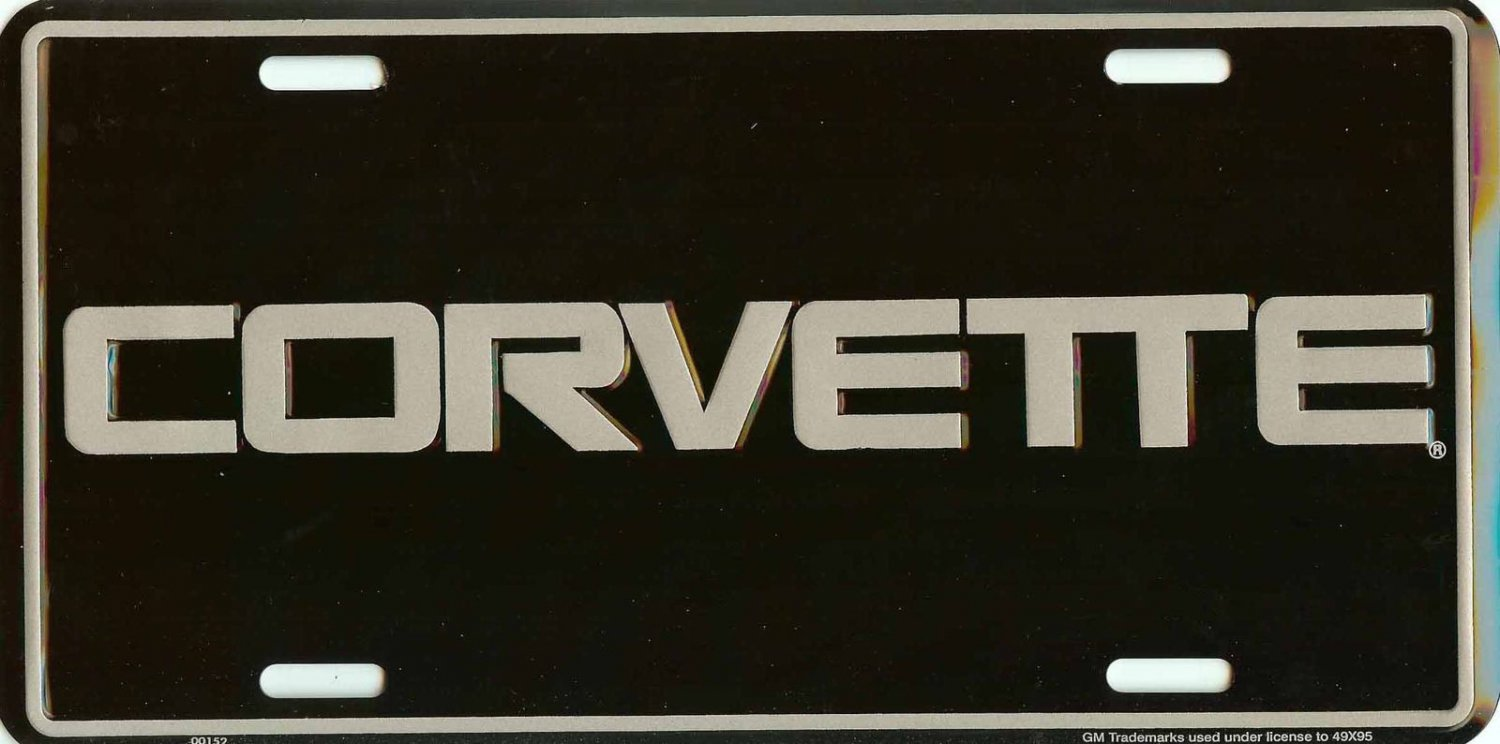 Chevrolet Corvette Embossed License Plate