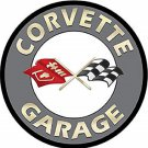 Corvette Garage Mirror Sign 14x14