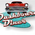 Dashboard Diner Mirror Sign 14x14