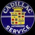 Cadillac Authorized Service Garage Mirror Sign 14x14