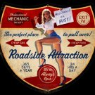 Roadside Attraction Garage Mirror Sign 14x14