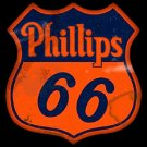 Phillips 66 Gas And Oil Garage Mirror Sign 14x14