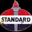 Standard Oil and Gas Garage Mirror Sign 14x14