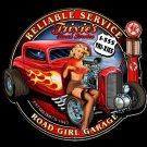 Texaco Road Girl  Pinup Babe Garage Mirror Sign 14x14