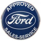 Appoved Ford Sales And Service Garage Mirror Sign 14x14