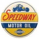 Speedway Motor Oil Garage Mirror Sign 14x14