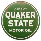 Quaker State Motor Oil Garage Mirror Sign 14x14
