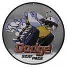 Dodge Scat Pack  Garage Mirror Sign 14x14